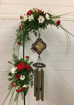 "Chime Options With Flowers -See ""Sympathy"" Page in White Oak, PA 