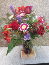 Burning Love Vase Arrangement