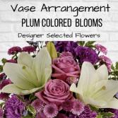 Vase Arrangement-Plum