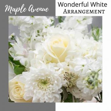 Vase Arrangement-Wonderful White