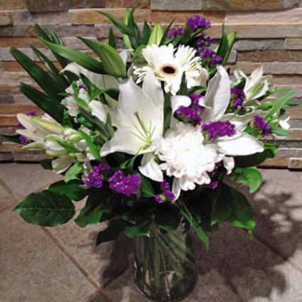 White Glory Vase arrangment