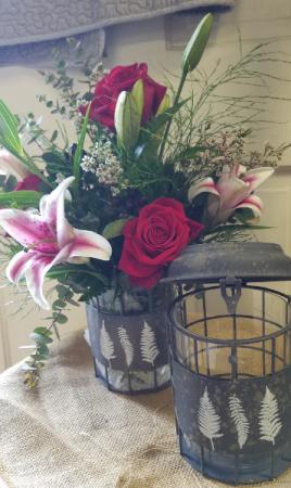 Vase Decorative Metal  Fresh Arrangement
