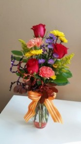 Vase of Fall Blooms