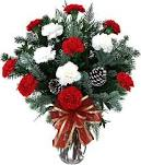 Vase of Holiday Carnations