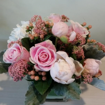 Vase of peonies Flower arrangement