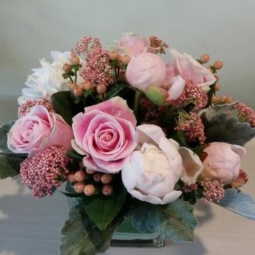 Vase of peonies Flower arrangement