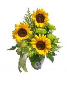 Vase of Sunshine Flower Arrangement
