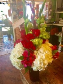 vases of floral mix seasonal