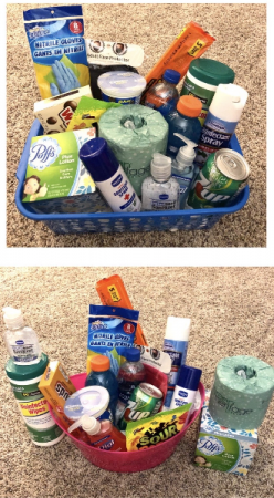 "NEW ""COVID BASKET"" Essentials and Candy Basket includes candy, face mask,t.p., hand sanitizers,etc. to help keep your loved ones safe. (BRANDS AND SOME ITEMS MAY VARY WITH AVAILABILITY) WE WILL FILL TO VALUE."