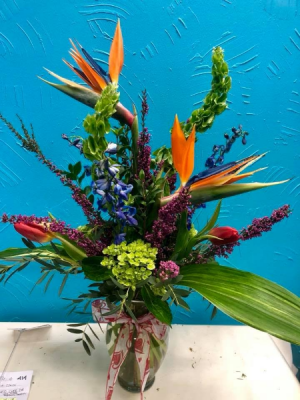V-day19 Special Tropicals with seasonal fresh cut flowers in Pelham, AL | PELHAM FLOWERS BY DESIREE