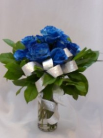 Velvet Blue Roses Just For You - I Love You Baby Order Roses and Gifts Prince George BC