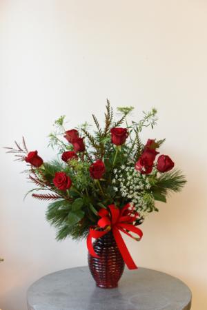 Velvet Dozen Roses  in La Grande, OR | FITZGERALD FLOWERS