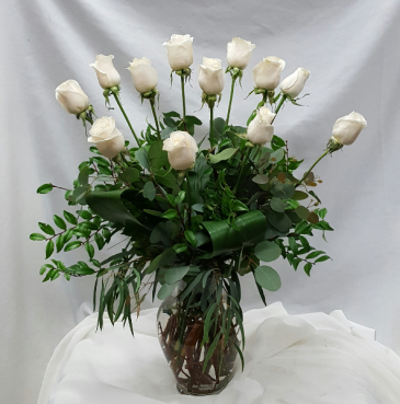 Vendella White Rose Fresh Floral Design