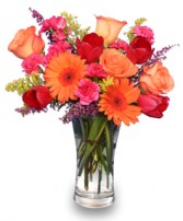 VERY BERRY PUNCH  Fresh Floral Vase