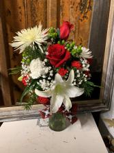 Very Merry Christmas Bouquet  Vase Arrangement
