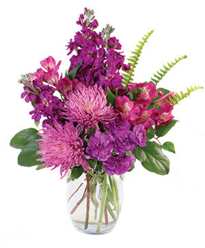 Very Violet Bouquet in Yankton, SD | Pied Piper Flowers & Gifts
