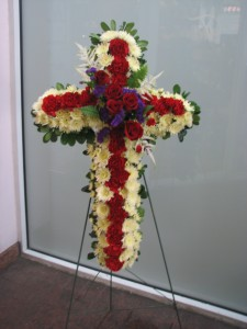 Veteran's Cross Funeral Piece