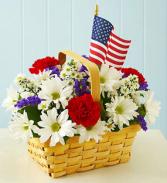 Veterans Remembrance Fresh flowers basket