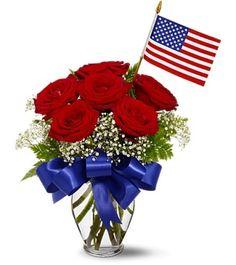 Veterans Remembrance Fresh Flowers Arrangement