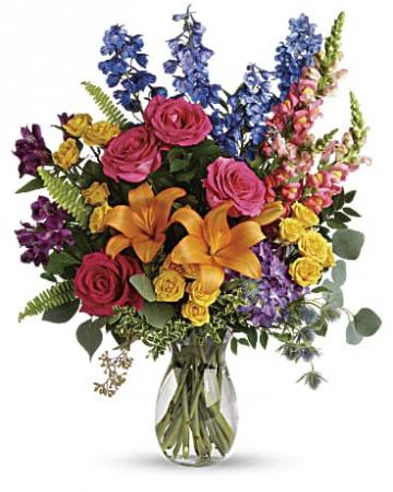 vibrant 1 premium vase arrangement