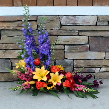 Vibrant A-Symmetrical Design Contemporary Flower Arrangement