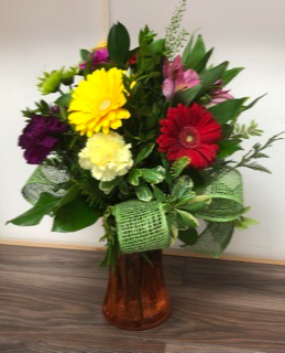 Vibrant autumn Vase arrangement