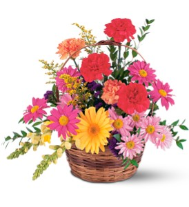 Vibrant Basket Arrangement Fresh Floral Arrangement