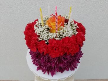 Vibrant Birthday Cake