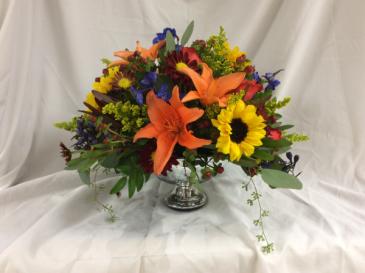 Vibrant Blooms Centerpiece Arrangement