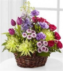 Vibrant Blossoms Basket Arrangement