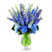 Vibrant Blues Vase Arragement