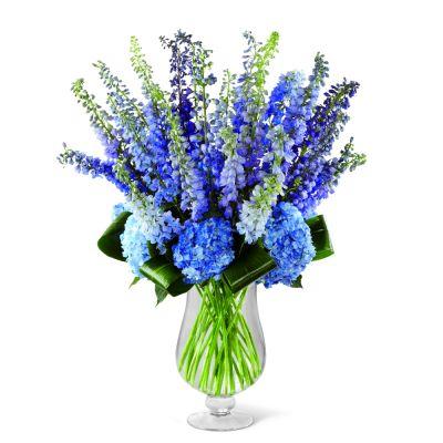 Vibrant Blues Vase Arragement