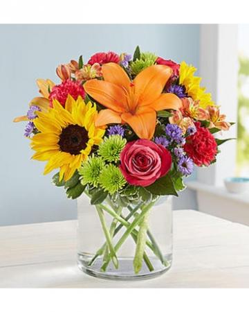 VIBRANT COLOR Vase arrangement