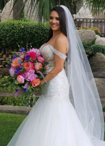 Vibrant European Bridal Bouquet