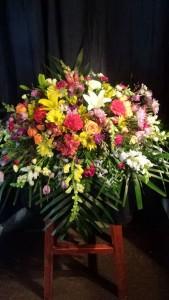 Vibrant Farewell casket