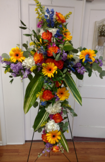 VIBRANT FLORAL EXPRESSION Funeral cross