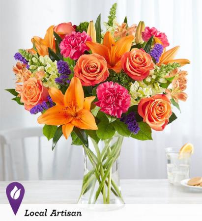 Vibrant Floral Medley All-around arrangement