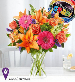 Vibrant Floral Medley™ for Graduation Arrangement in Croton On Hudson, NY | Cooke's Little Shoppe Of Flowers