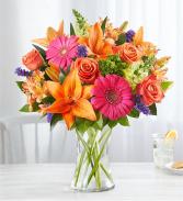Vibrant Floral Medley Vase Arrangement