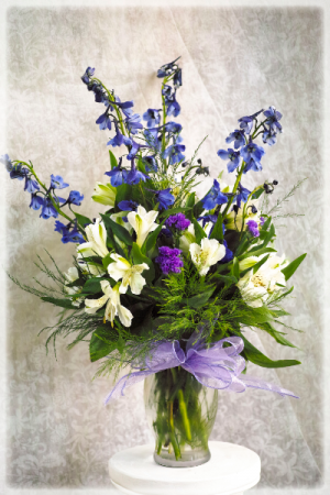 Vibrant Forget-Me-Not Bouquet  in Vincennes, IN | ORGAN FLORIST & GREENHOUSES