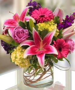 Vibrant Garden contemporary vase