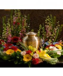 Vibrant Garden Urn  Wreath