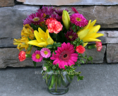 Vibrant Ginger Jar Classic Flower Arrangement