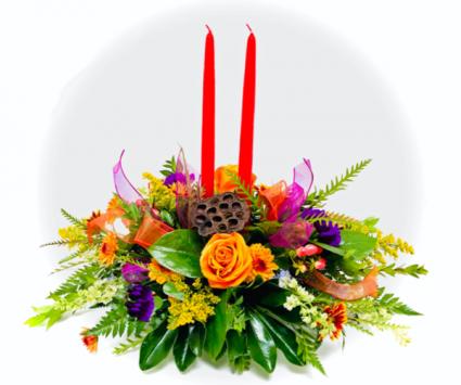 Vibrant Harvest Fresh Centerpiece