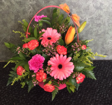 Vibrant Hues Basket Arrangement