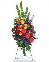 Vibrant Life Standing Spray Flower Arrangement