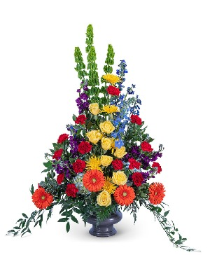 Vibrant Life Urn Sympathy in Nevada, IA | Flower Bed