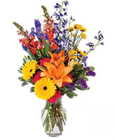 Vibrant Meadow Flower Arrangement in Osceola Mills, Pennsylvania | COLONIAL FLOWER & GIFT SHOP
