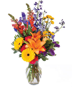 Vibrant Meadow Flower Arrangement in Madison, AL | RABBIT'S NEST FLORIST AND GIFTS
