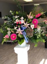 Vibrant Memory Funeral arrangement